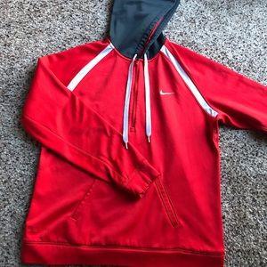 Nike red sweatshirt